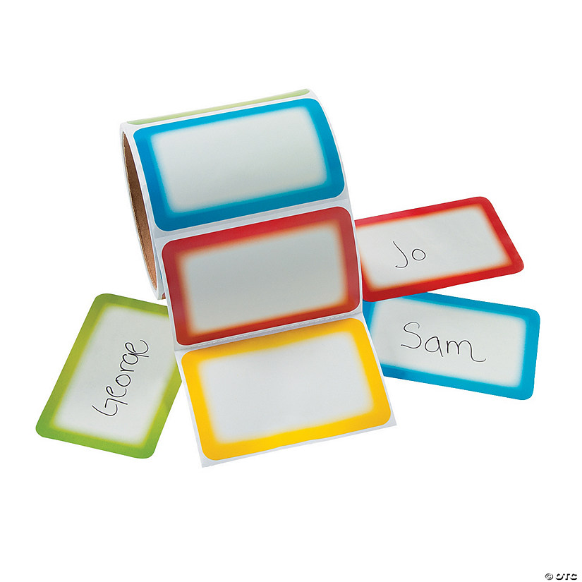 Colorful Self-Adhesive Name Tags/Labels