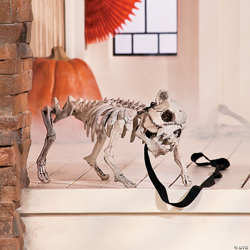 Skeleton Dog Halloween Decoration Oriental Trading