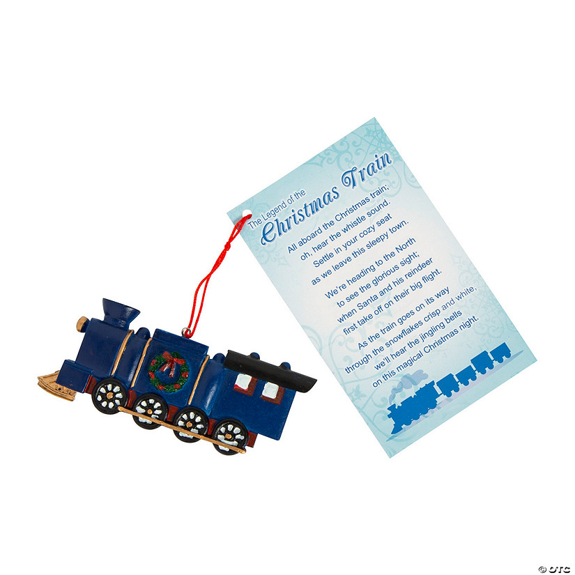 legend of the christmas train ornaments with card - The Christmas Train