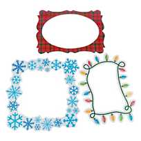 quickview image of merry bright picture frame cutouts with sku13666140 - 4x6 Photo Insert Christmas Cards