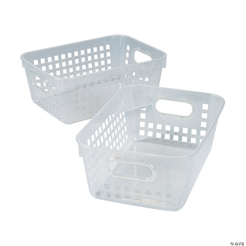 3a930d845763 Clear Tall Storage Baskets with Handles - Discontinued