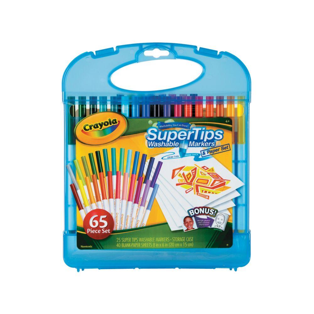 25-Color Crayola® Supertips Washable Markers & Paper Set