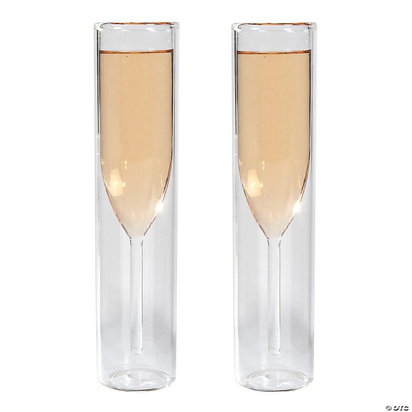 encased cylinder champagne flutes