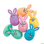 Pastel Bunny Plastic Easter Eggs - 12 Pc.