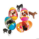 Puppy-Filled Plastic Easter Eggs - 12 Pc.