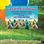 Personalized Easter Egg Hunt Yard Sign