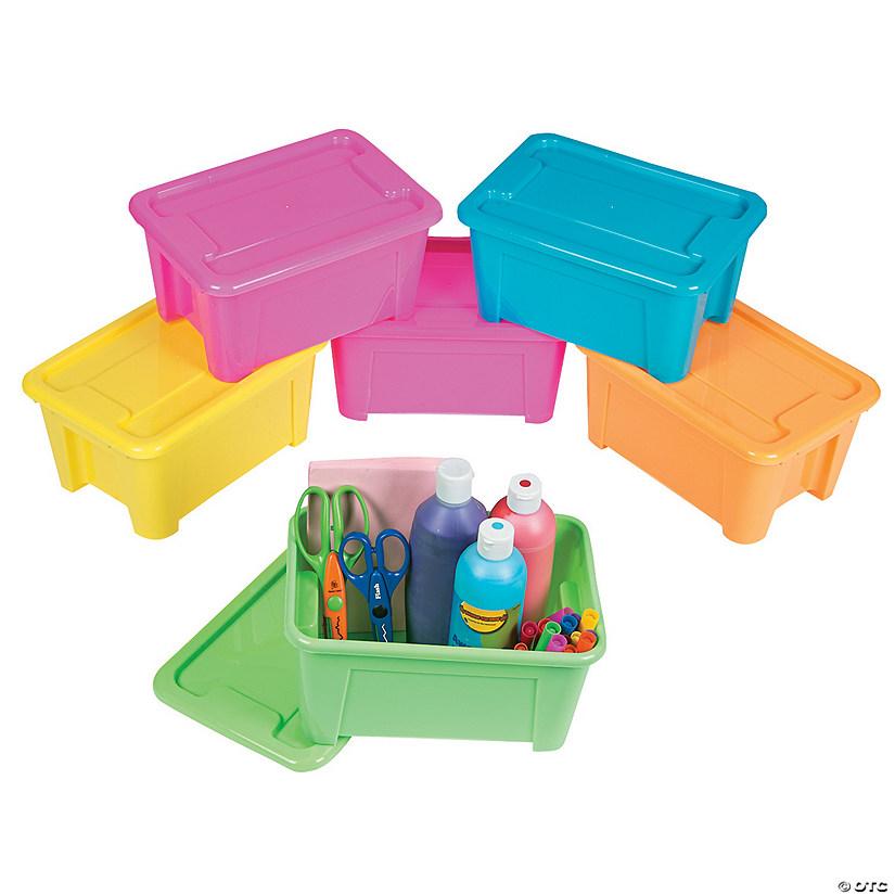 neon storage bins with lids