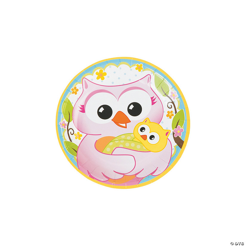 Owl Baby Shower Paper Dessert Plates