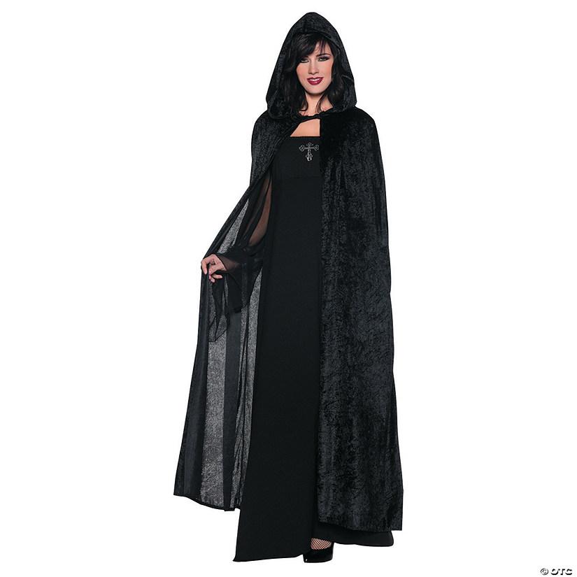 womens black hooded cloak costume