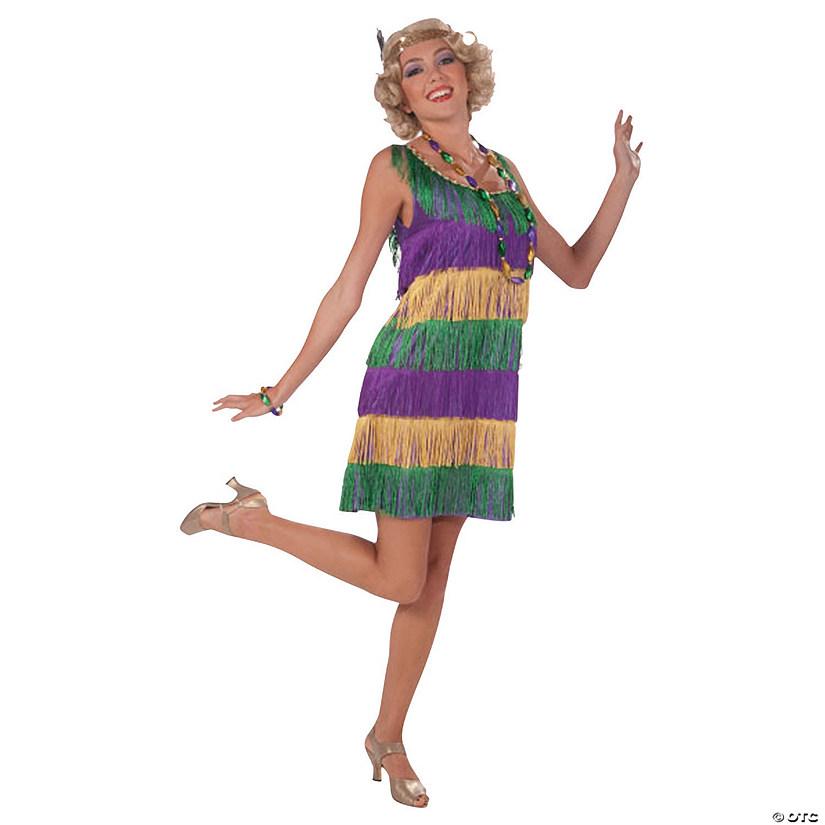 Women\'s Mardi Gras Flapper Costume - Standard