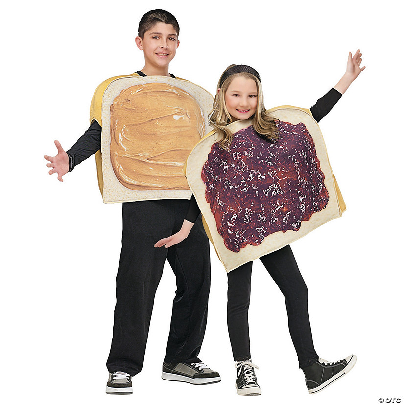 Halloween Costumes For Two Friends.Kid S Peanut Butter N Jelly Costume