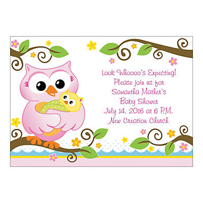 Personalized Owl Baby Shower Invitations Oriental Trading