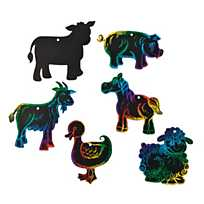 Magic Color Scratch Animal Masks   Oriental Trading