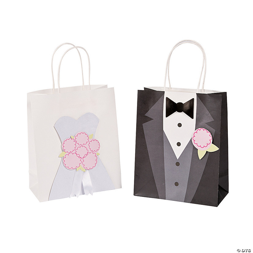 Medium Bride Groom Kraft Paper Bags Discontinued