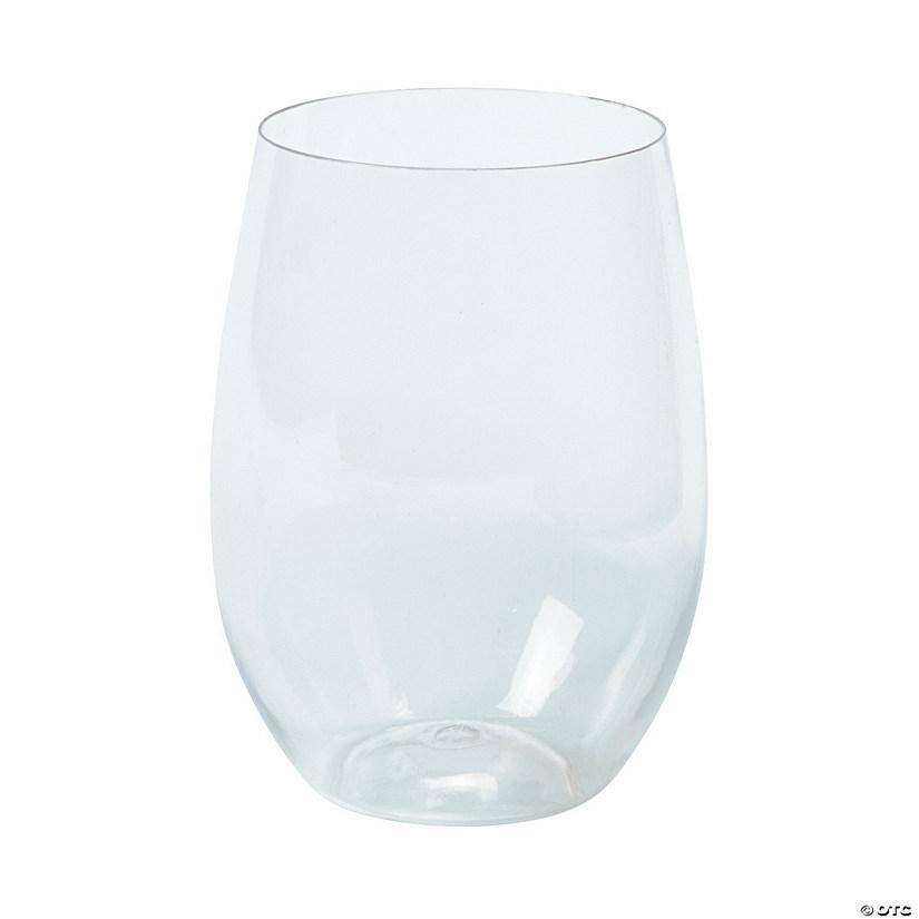 Clear Stemless Plastic Wine Glasses