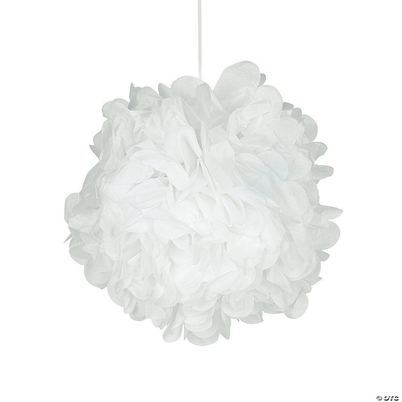 White pom pom decorations mightylinksfo