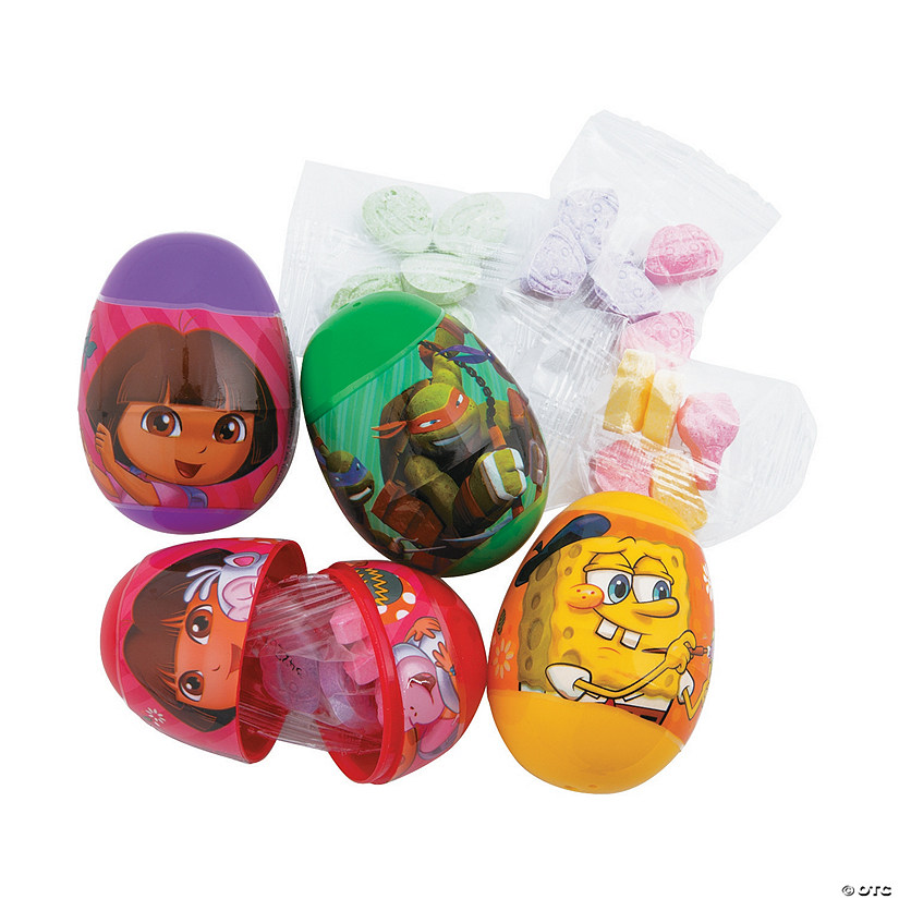 candy filled nickelodeon sup sup plastic easter eggs 16 pc