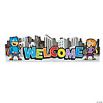 Superhero Welcome Banner Jointed Wall Decoration