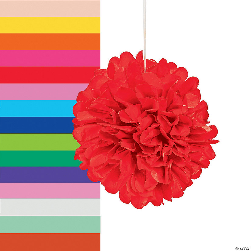 Tissue Paper Pom Pom Decorations