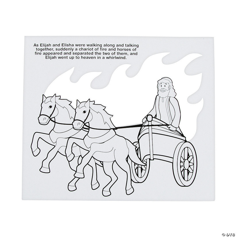 Color Your Own Elijah S Chariot Tissue Paper Craft Kit