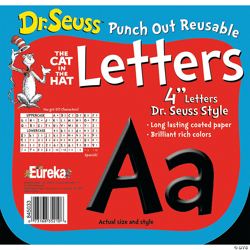 dr seuss black bulletin board letters numbers