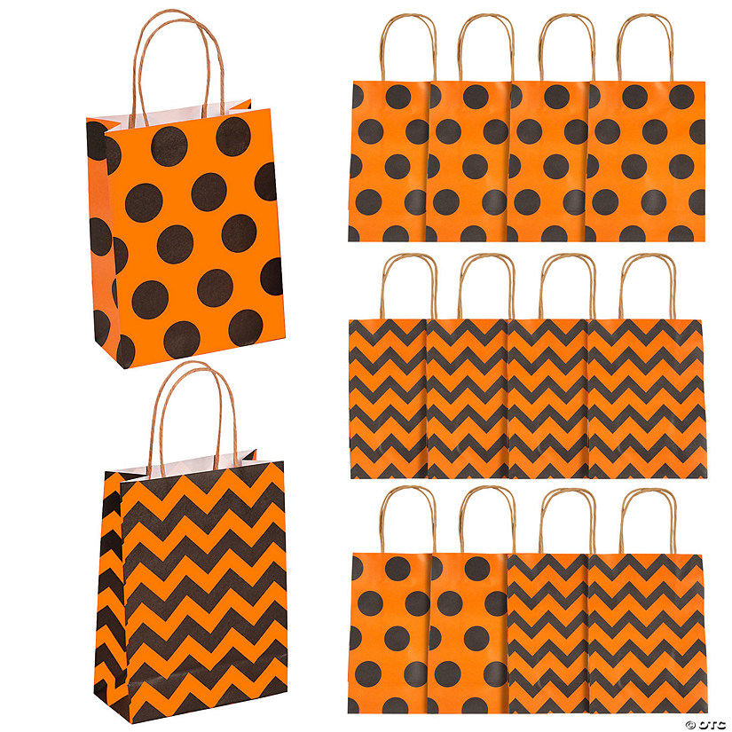 Medium Pattern Kraft Paper Gift Bags