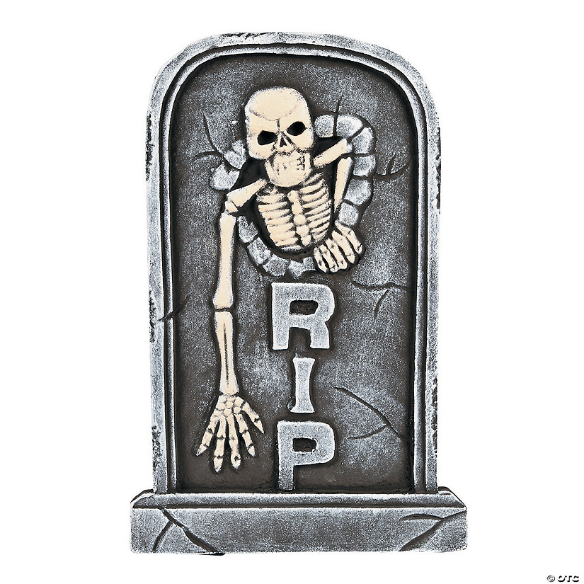 Skeleton Tombstone Halloween Décor