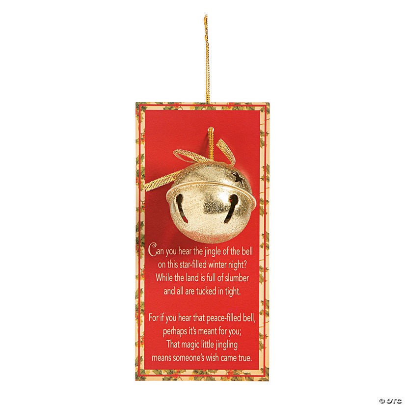 Legend Of The Christmas Tree Poem: Legend Of The Jingle Bell Christmas Ornaments With Card