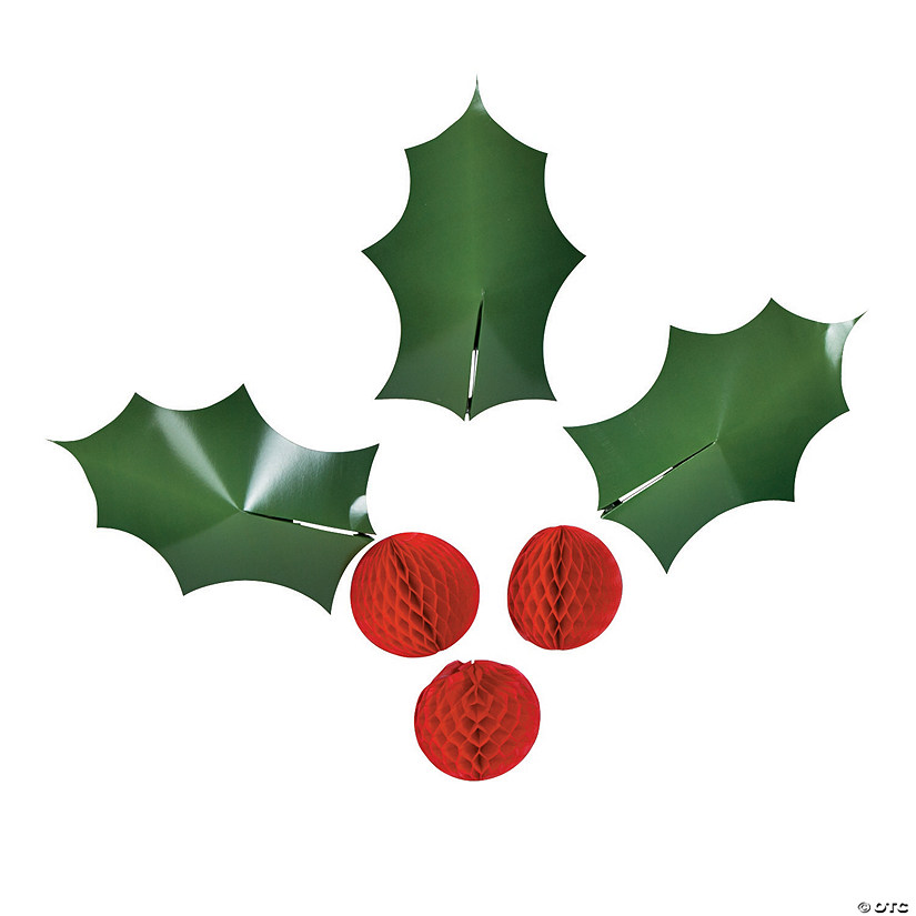 3d Holly Wall Decorations