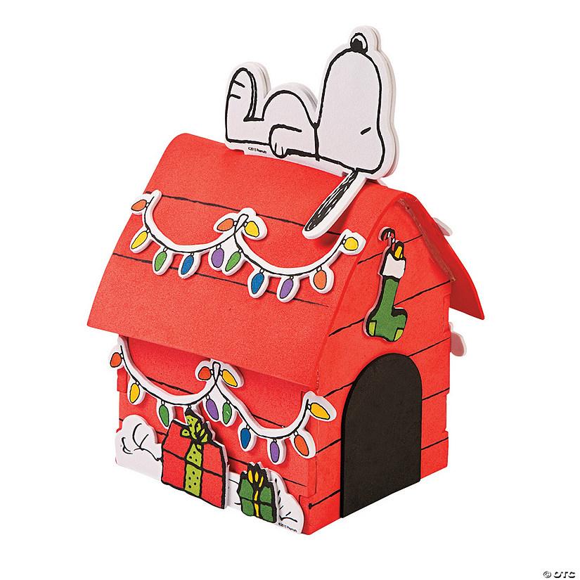Snoopys Christmas.Peanuts 3d Snoopy S Christmas Dog House Craft Kit