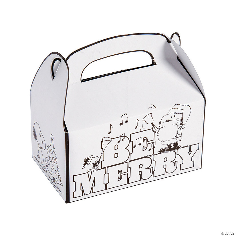 Color Your Own Peanuts Christmas Treat Boxes