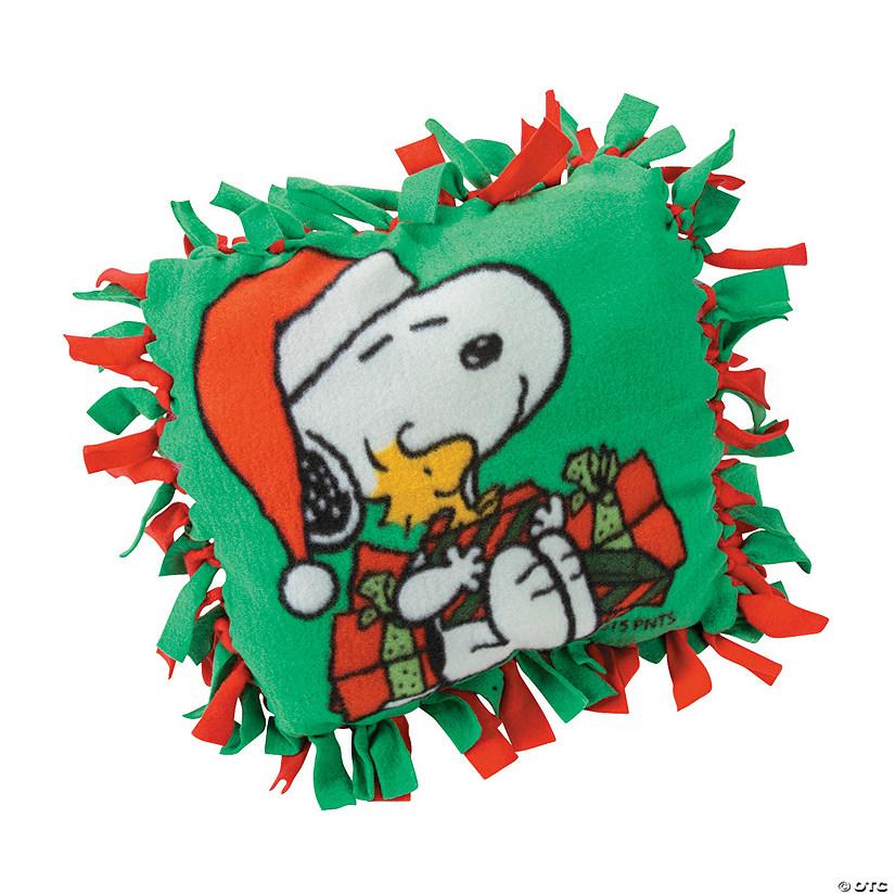 peanuts christmas fleece tied pillow craft kit - Christmas Fleece