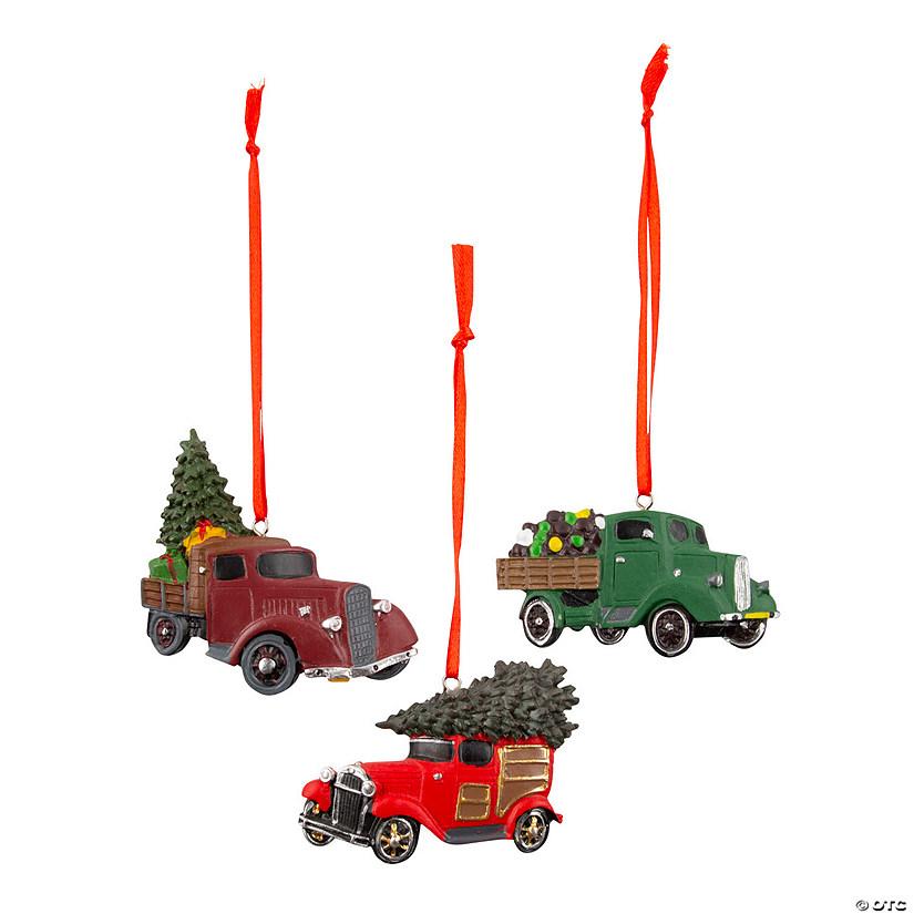 Car Christmas Ornaments.Vintage Truck Christmas Ornaments