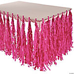 Hot Pink Fringe Table Skirt