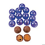 Purple Caramel Balls Chocolate Candy