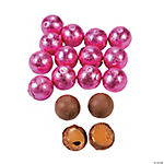 Bright Pink Caramel Balls Chocolate Candy