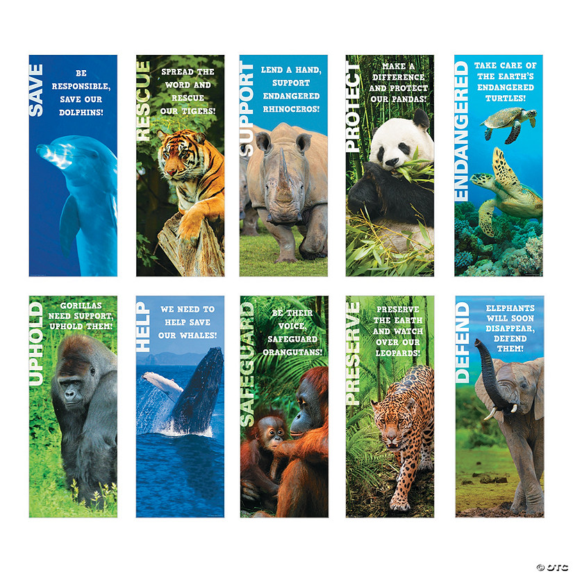 Enangered Animals Posters For Kids