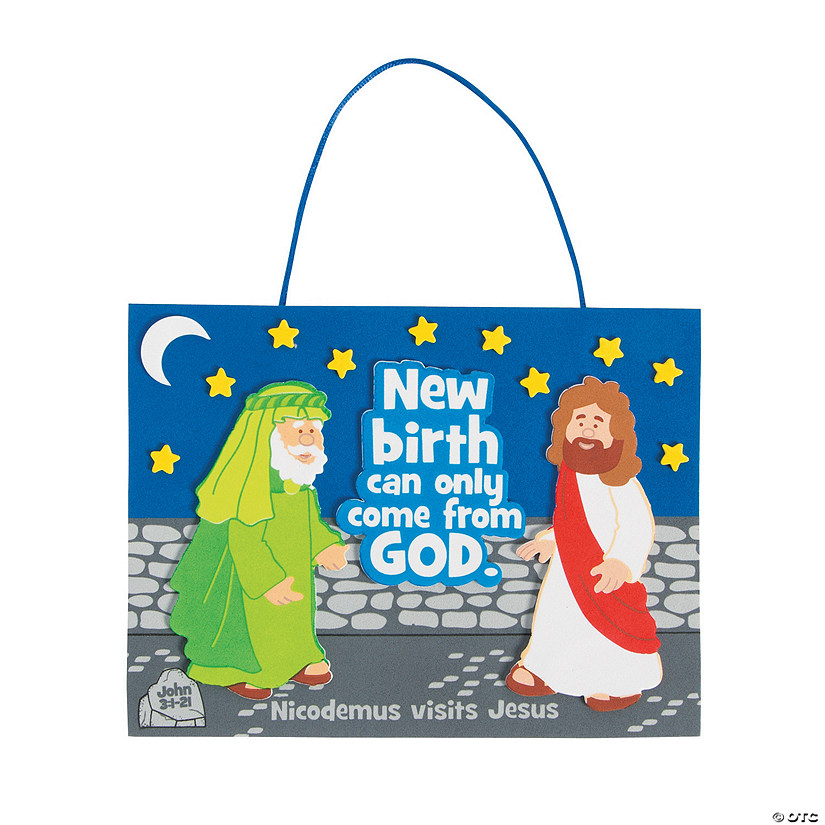 Jesus Meets Nicodemus Sign Craft Kit