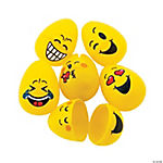 Emoji Plastic Easter Eggs - 48 Pc.