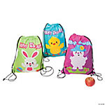 Large Easter Drawstring Bags