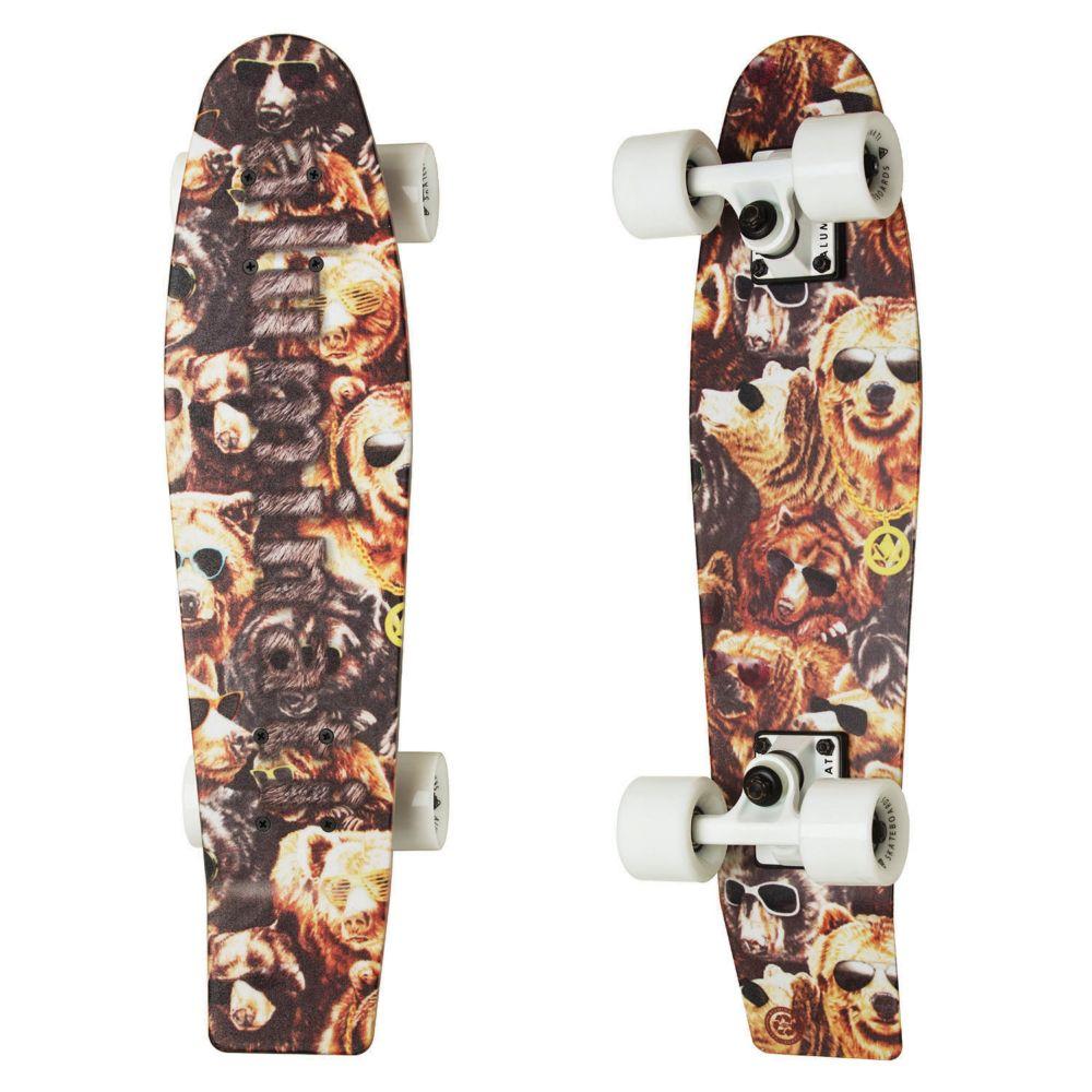 Aluminati Cruiser Skateboard: Shreddy Teddy From MindWare