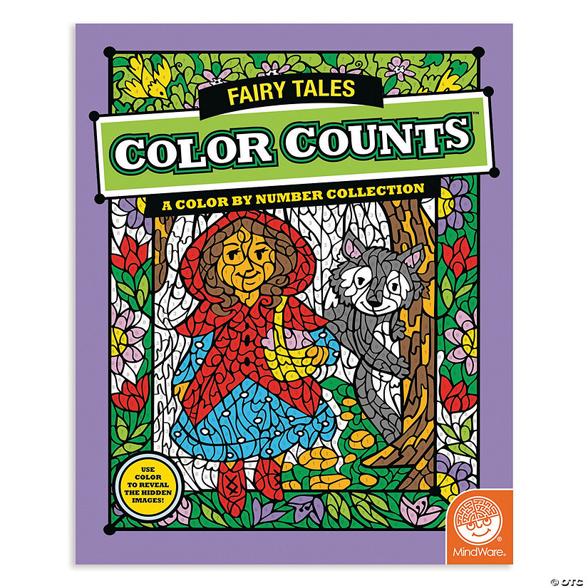 Mindware Color Counts Fairy Tales Coloring Book