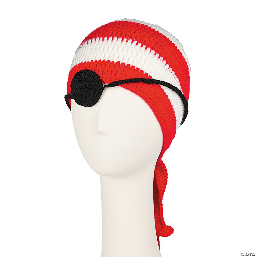 868484203 Pirate Striped Hat & Eye Patch Set | Oriental Trading
