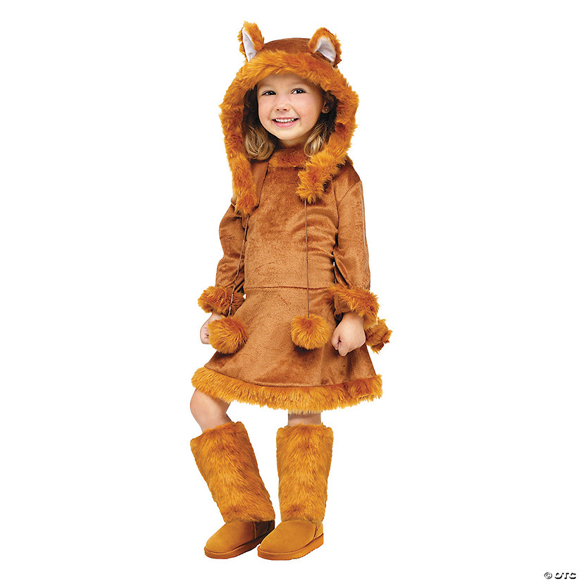 toddler girls sweet fox costume 3t 4t
