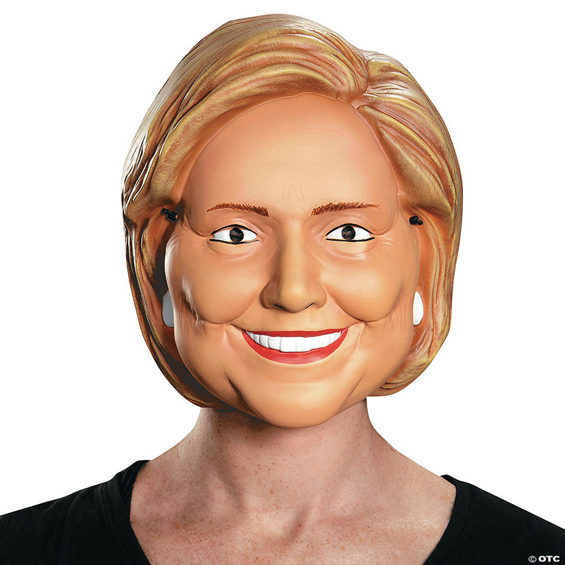 photo relating to Donald Trump Mask Printable titled Grown ups Hillary Clinton Mask