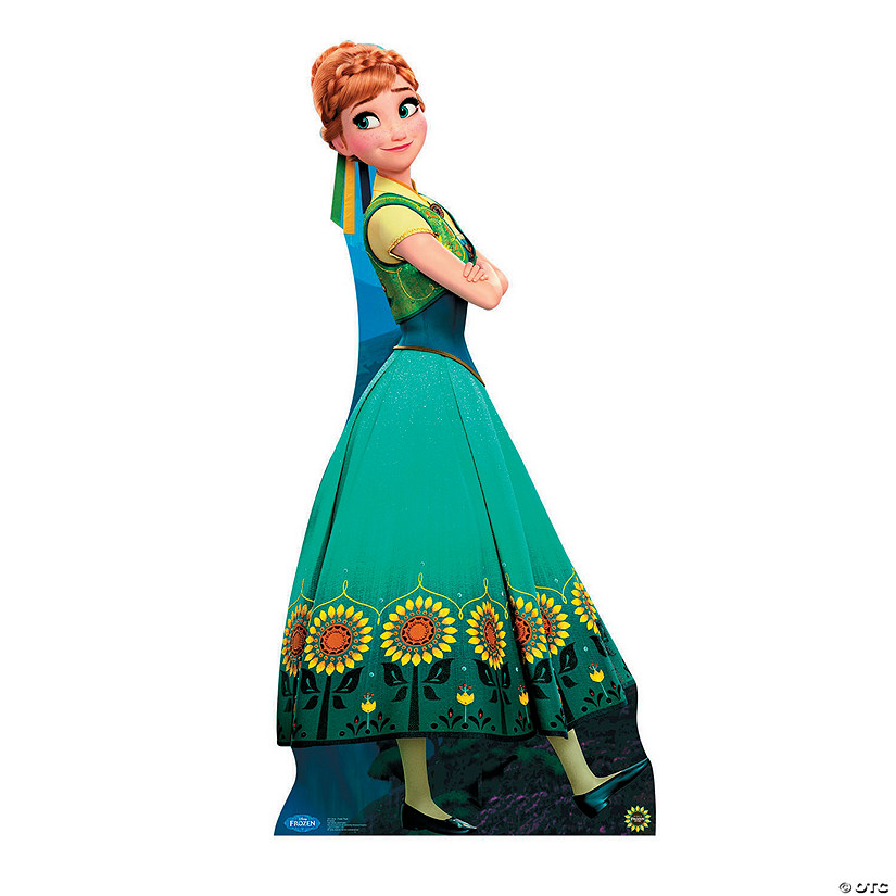 Frozen Fever Anna Hugging Cardboard Stand Up Oriental Trading