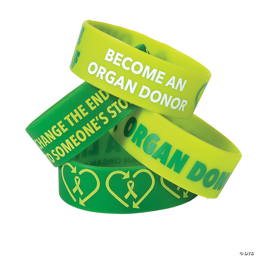 Organ Donor Awareness Big Band Rubber Bracelets