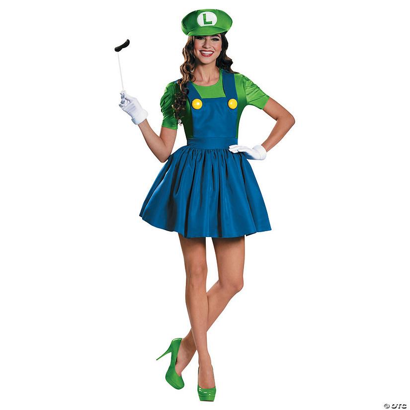 Women S Super Mario Bros Luigi Skirt Costume Oriental Trading