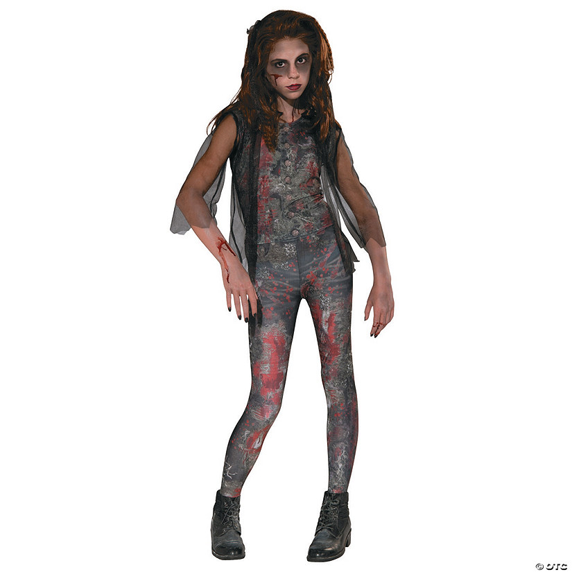Halloween Zombie Costumes For Girls.Girl S Zombie Dawn Costume