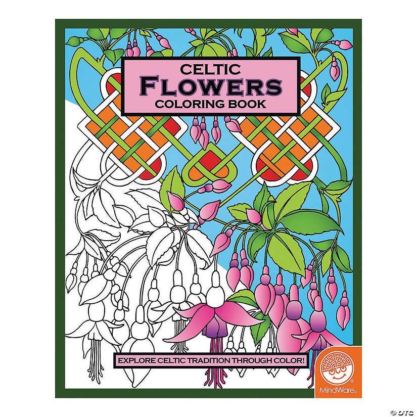 Mindware Celtic Flowers Adult Coloring Book